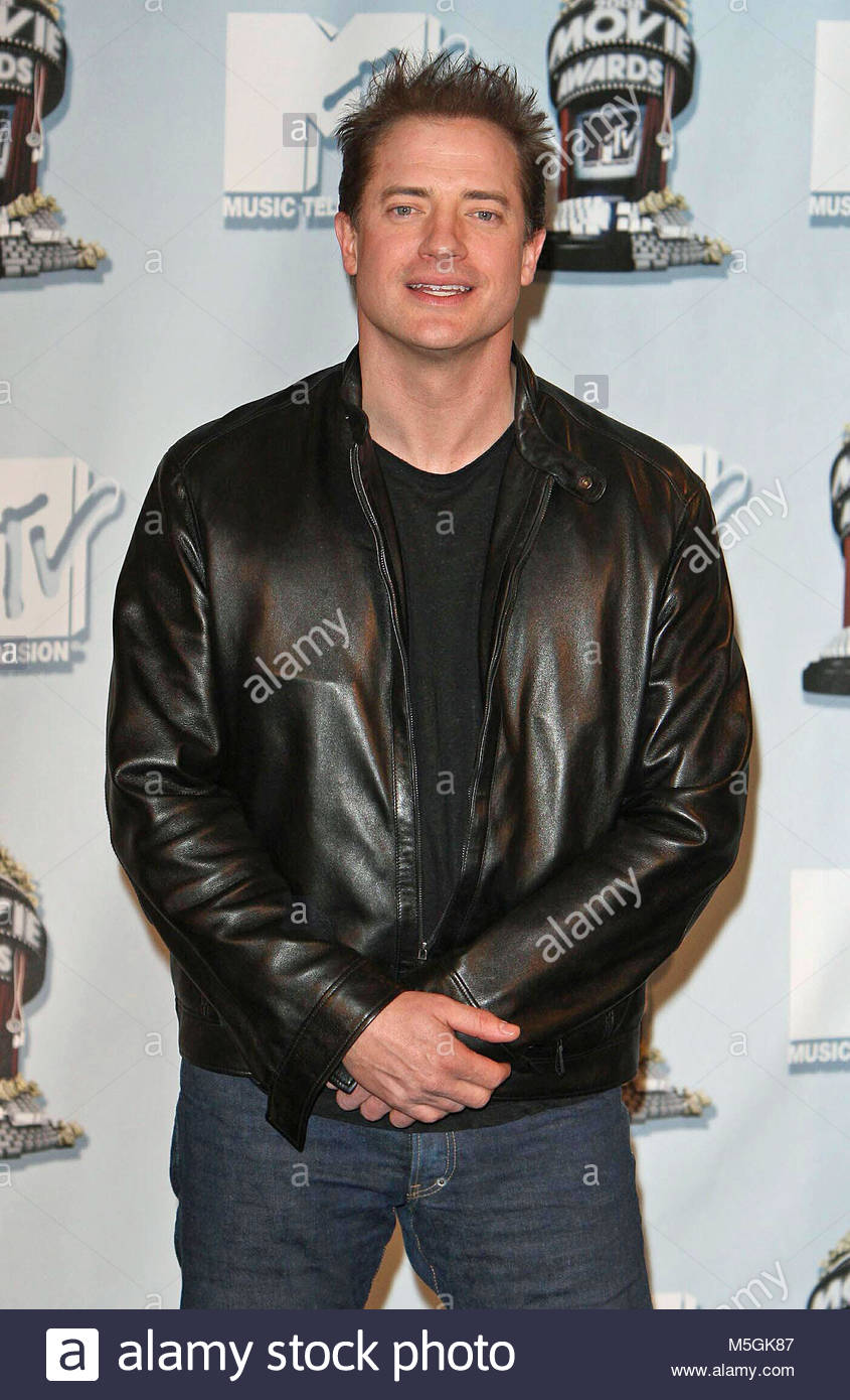 File photo dated 01/06/08 of The Mummy actor Brendon Fraser, who has claimed he was groped by the former president - Stock Image