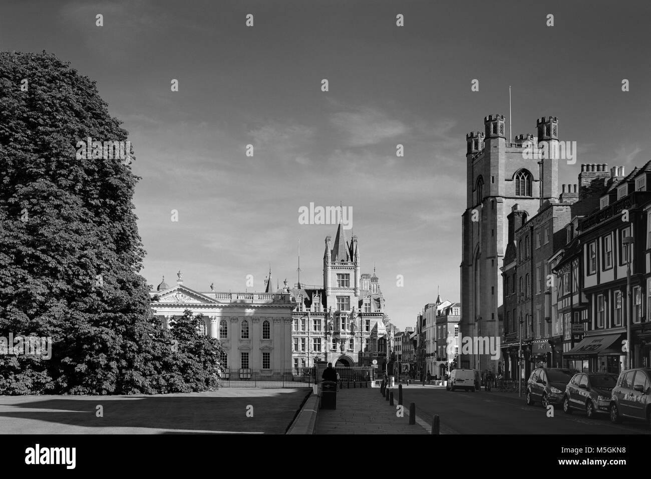King's Parade Cambridge looking North - Stock Image