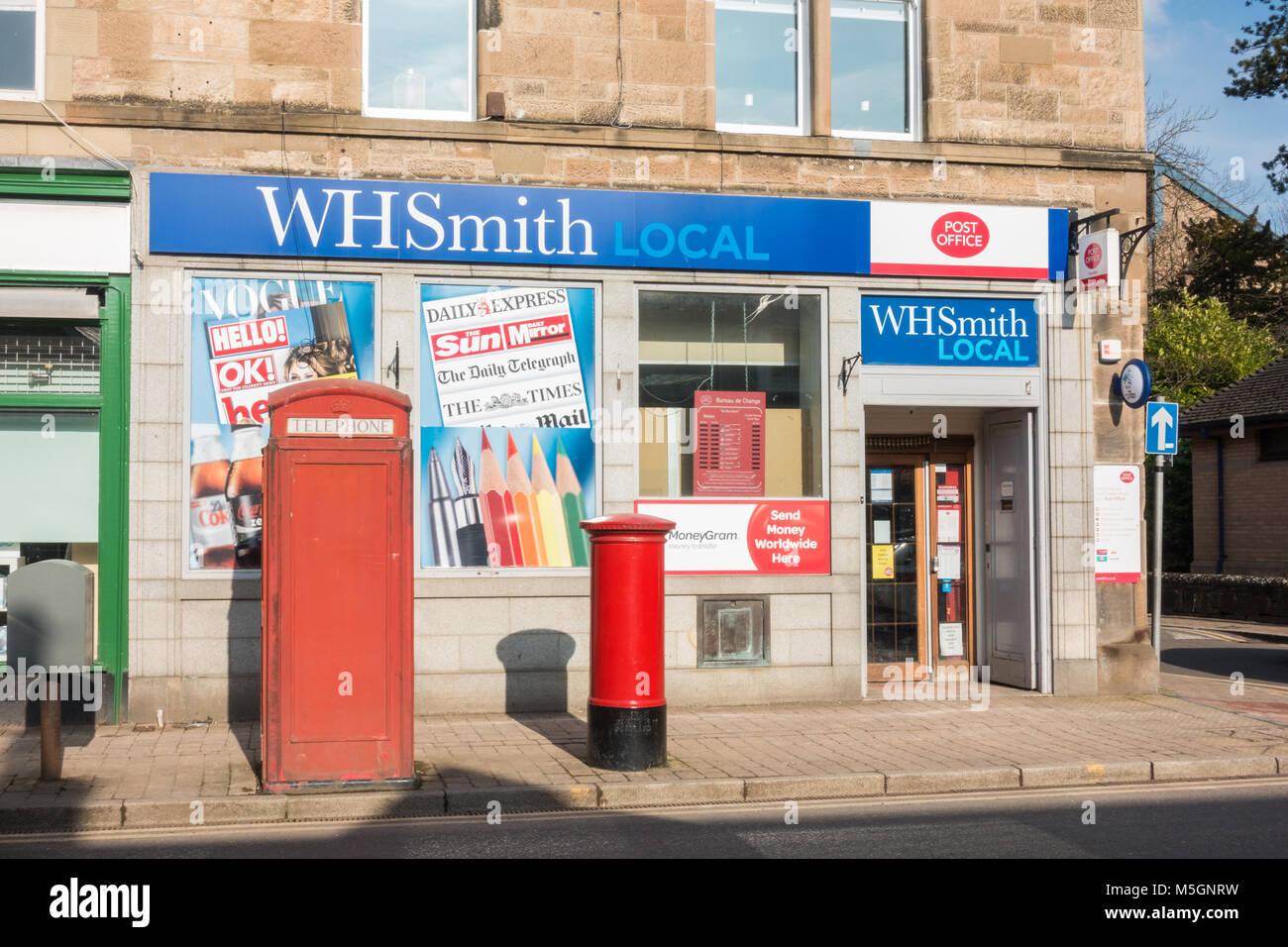 WHSmith Local shop and post office, Bearsden, Glasgow, Scotland, UK - Stock Image
