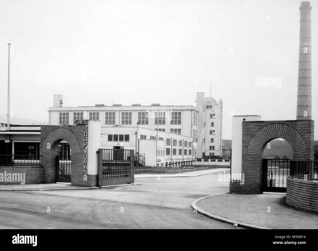 CWS Soap Works, Irlam, Manchester, probably 1920/30s - Stock Image