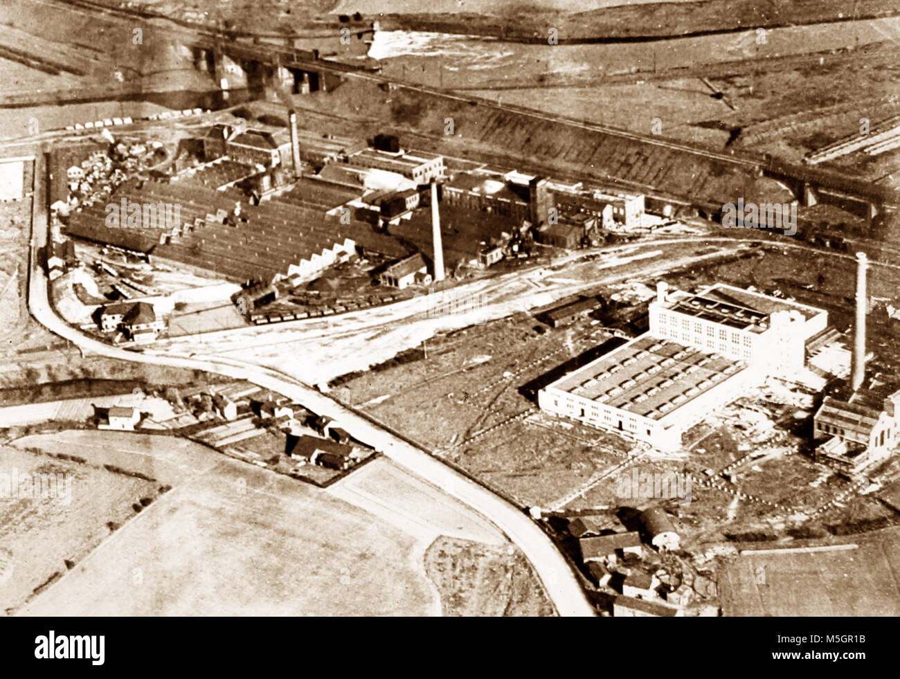 CWS Margarine Factory, Irlam, Manchester, probably 1920s - Stock Image