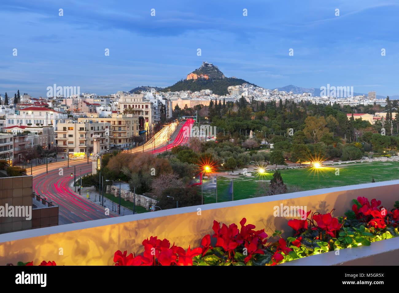 Mount Lycabettus in Athens, Greece Stock Photo
