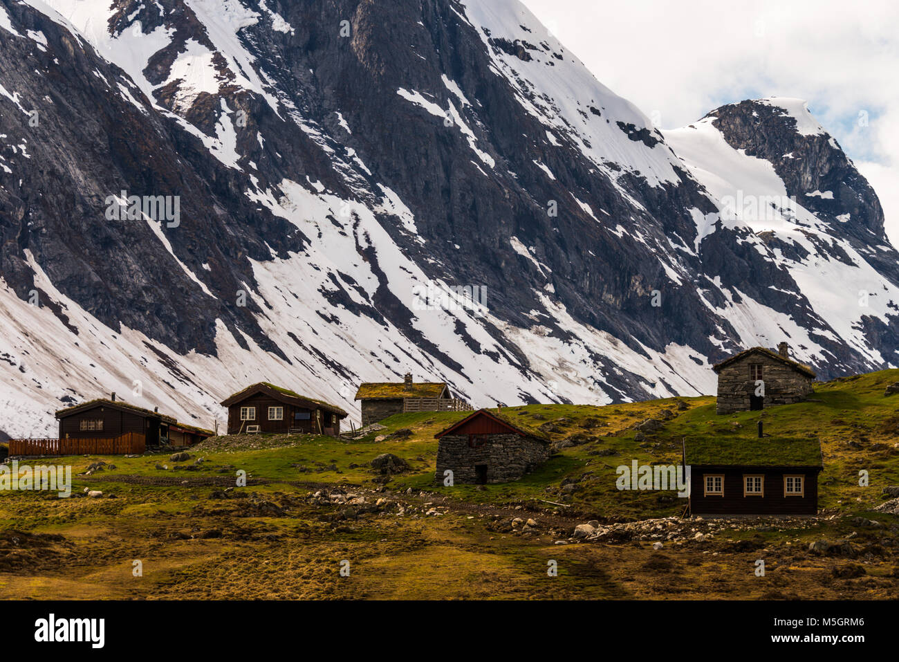 typical landscape of norway Stock Photo