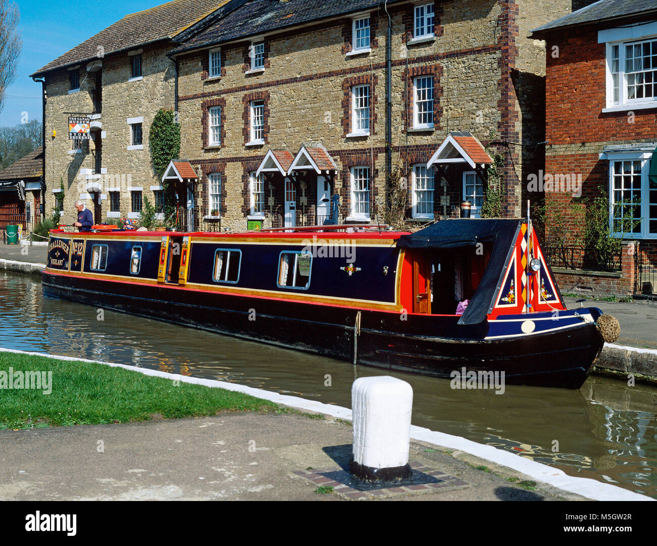 The Waterways Museum at Stoke Bruerne, Northamptonshire, at the top of Stoke Bruern locks on the Grand Union Canal - Stock Image