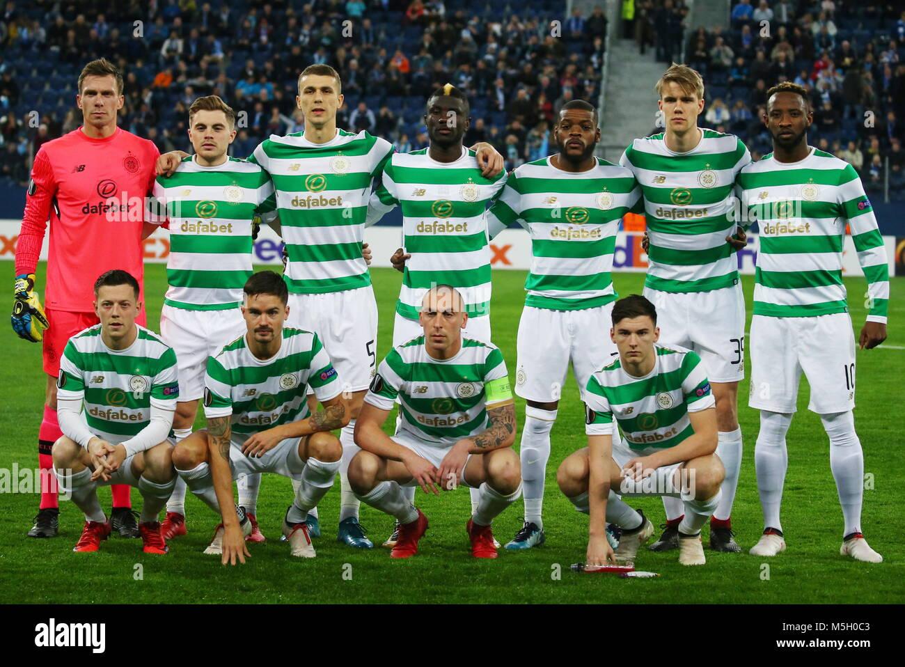 St Petersburg, Russia. 22nd Feb, 2018. ST PETERSBURG, RUSSIA - FEBRUARY 22, 2018: Celtic's Callum McGregor, - Stock Image