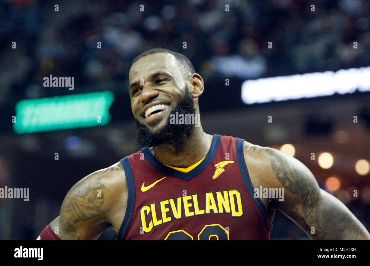 92334d9ee619 Cleveland Cavaliers Lebron James during the NBA game against Memphis  Grizzlies at the FedEx Forum in Memphis