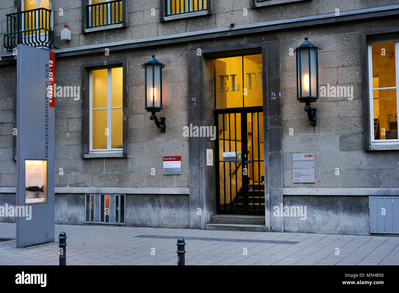 National Socialism Documentation Center. Memorial Museum of the Gestapo Prison in the EL-DE House. Founded in 1979. - Stock Image