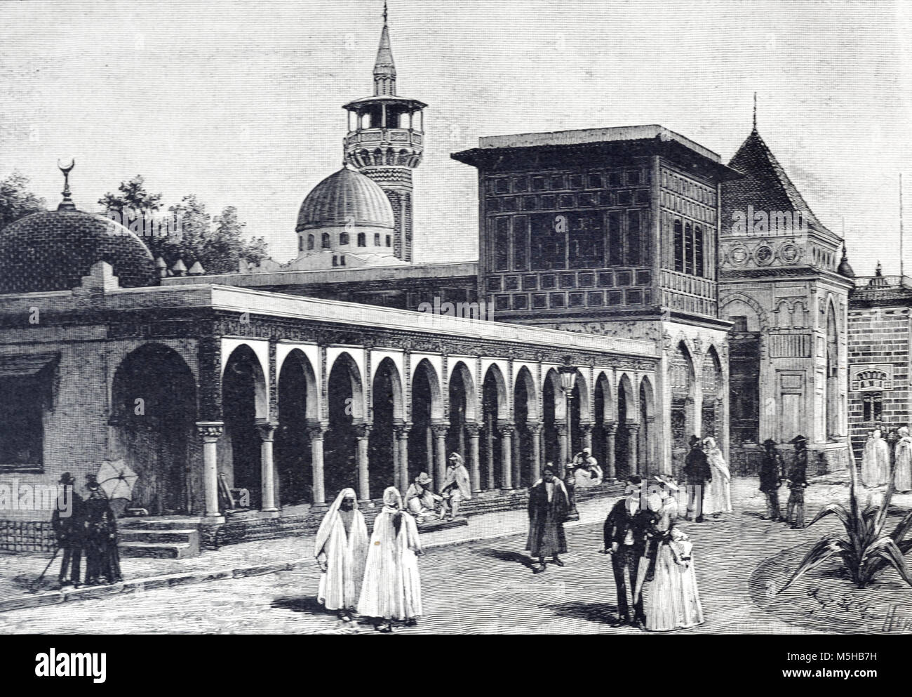 Algerian and Tunisian Pavilions at the Universal Exposition, Exposition Universelle or World Fair in Paris (1889) - Stock Image
