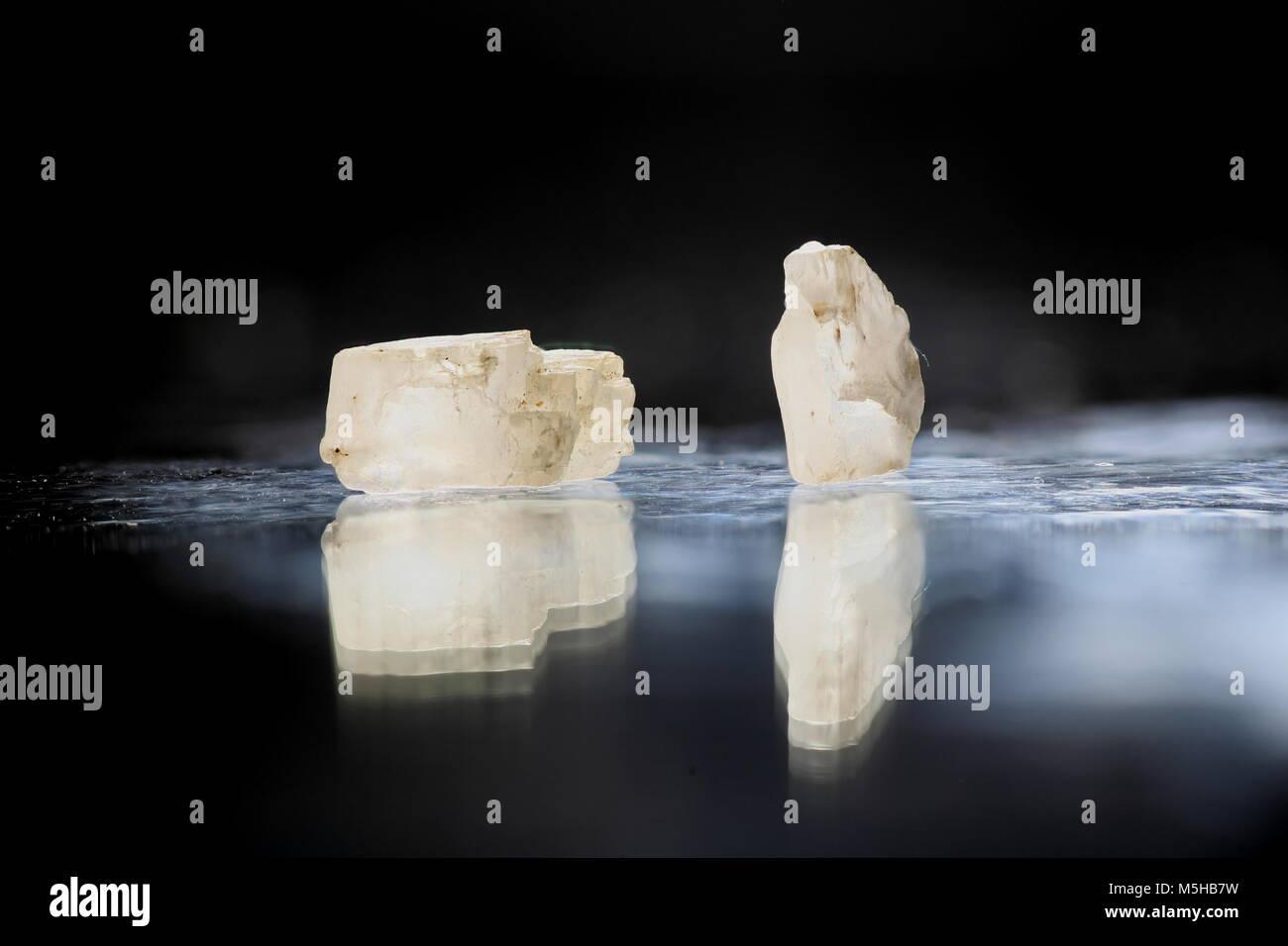 Luminous moonstone gem - Stock Image