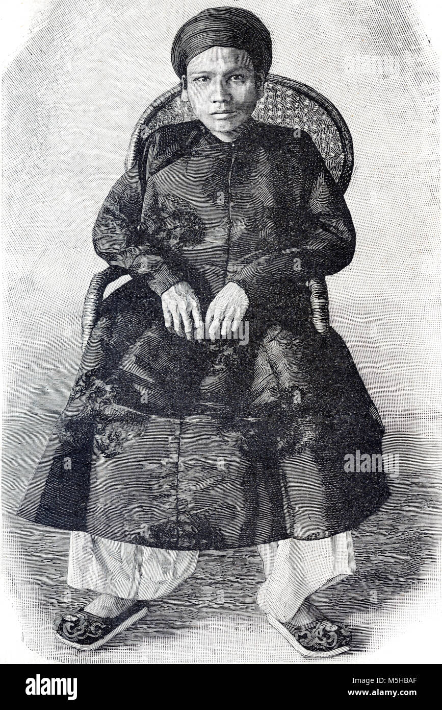 Vietnamese King or Emperor Han Nghi (1872-1943) Eighth Emperor (reigned 1884-1885) of the Vietnamese Nguyen Dynasty - Stock Image