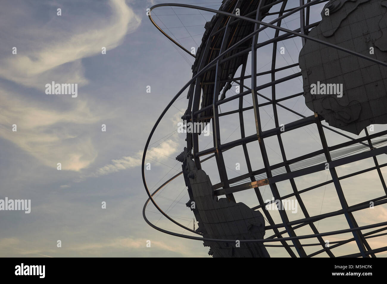 The Unisphere, Flushing Meadows–Corona Park, Queens, New York, USA. An iconic monument located in the Borough of Stock Photo