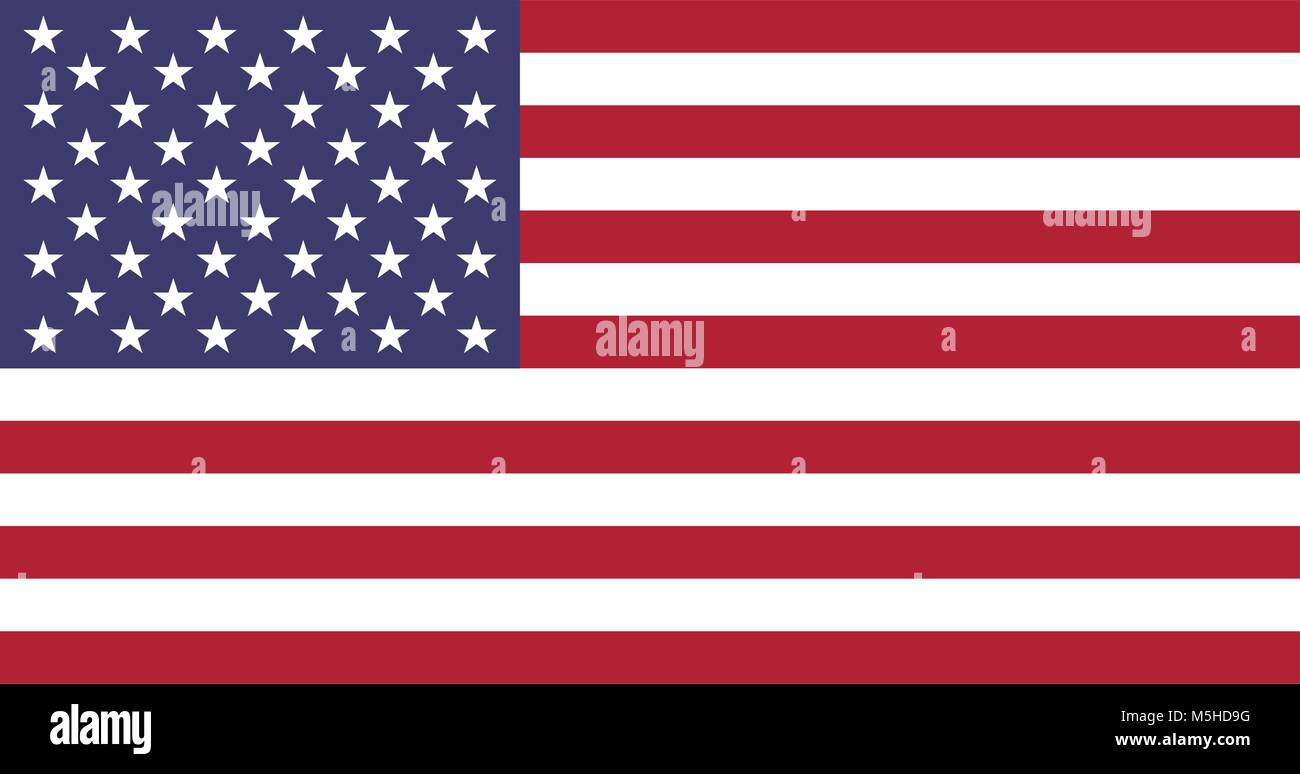 Flag of United States of America - Stock Vector