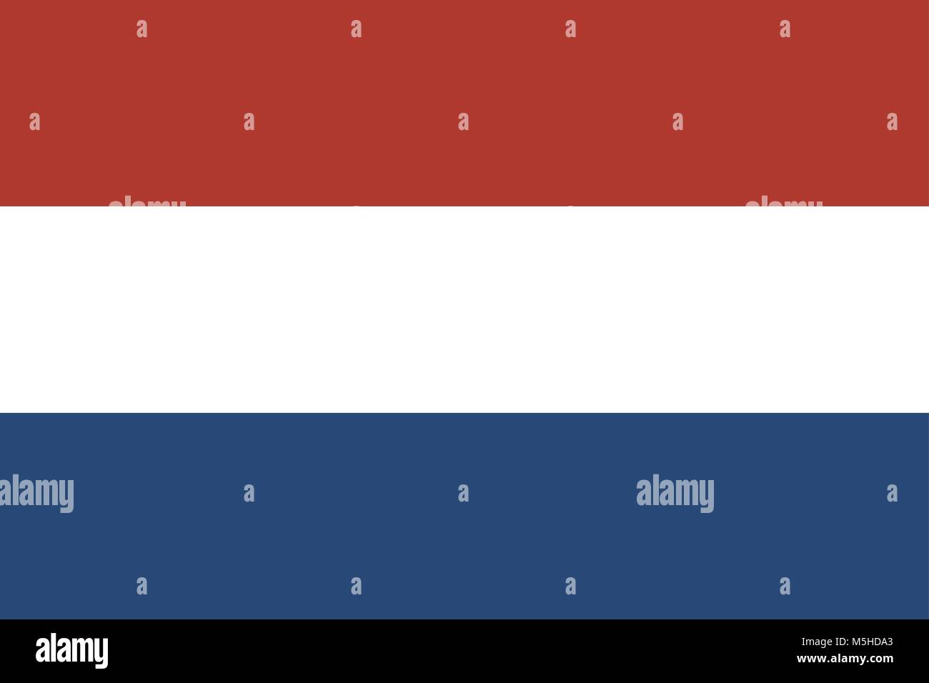 Flag of the Kingdom of the Netherlands, Flag of Holland - Stock Vector