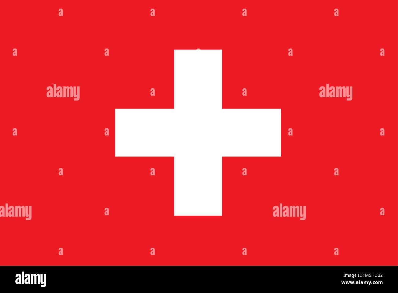 Flag of Switzerland, Swiss Flag - Stock Vector