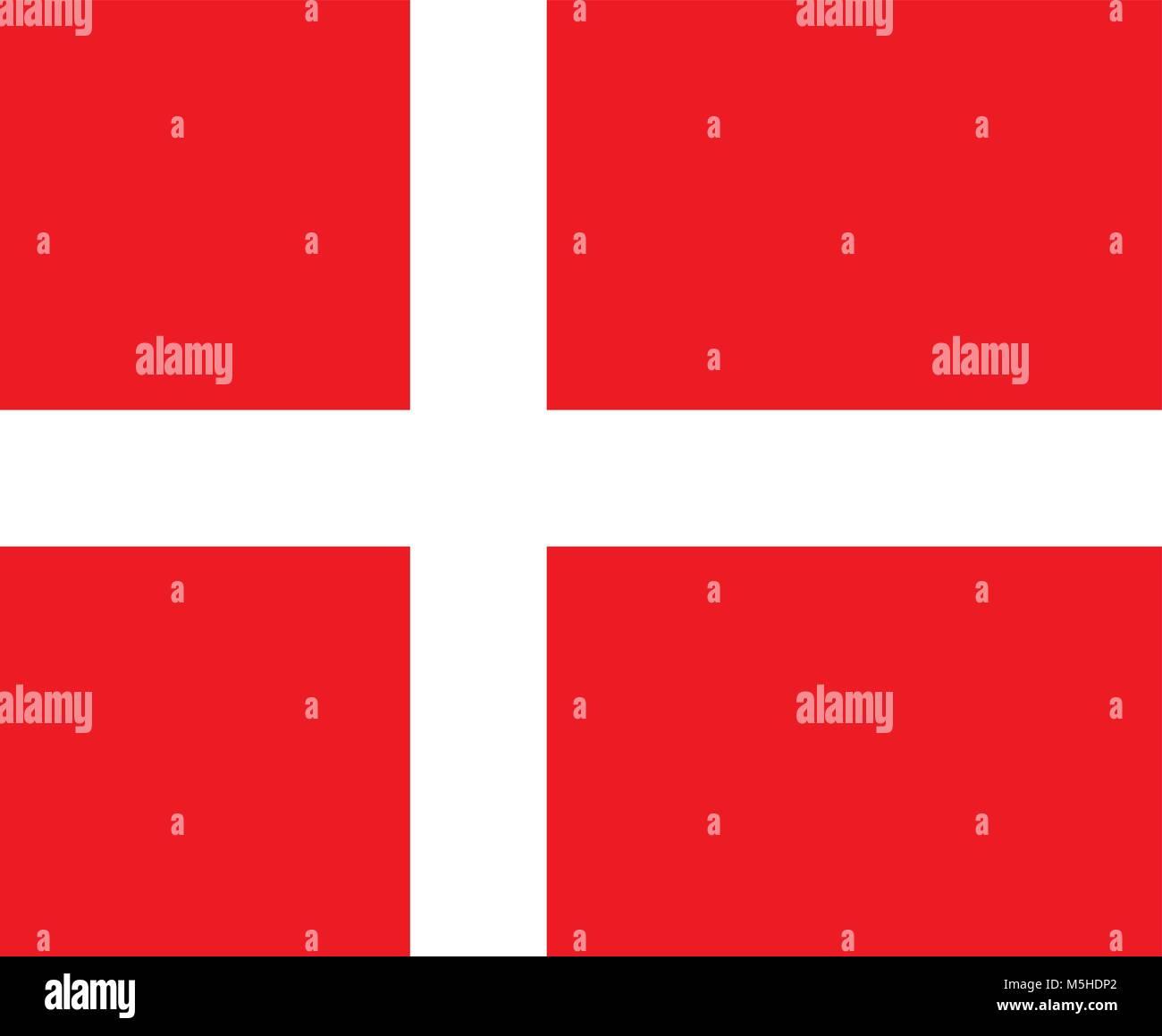 Flag of Denmark, Dannebrog - Stock Vector