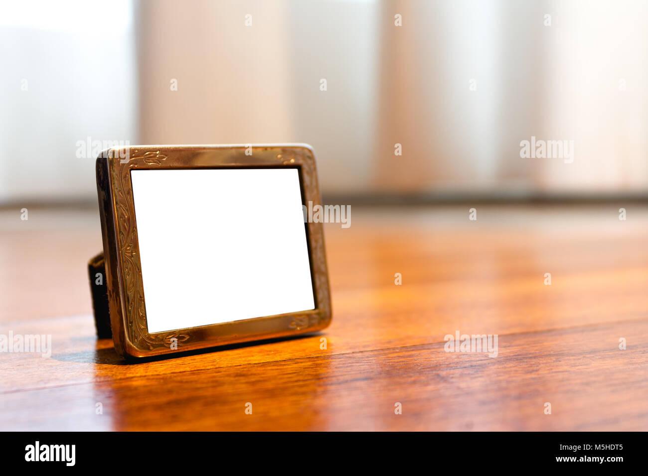 Miniature Silver Photo Frame Mock up Stock Photo