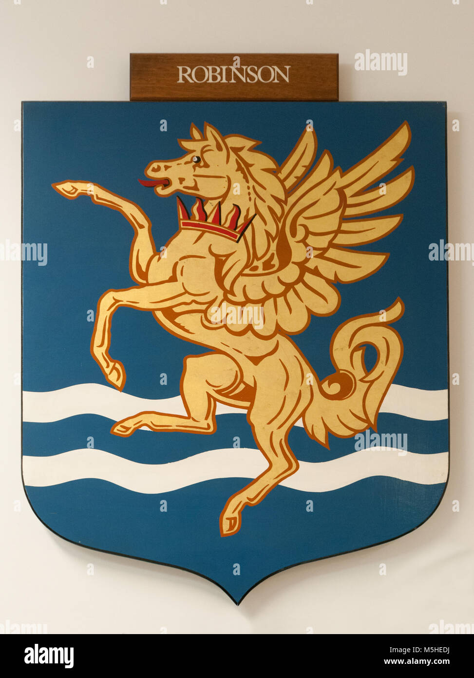 CAMBRIDGE, ENGLAND, UK - DECEMBER 03 2011: Coat of Arms of Robinson College Cambridge - Stock Image