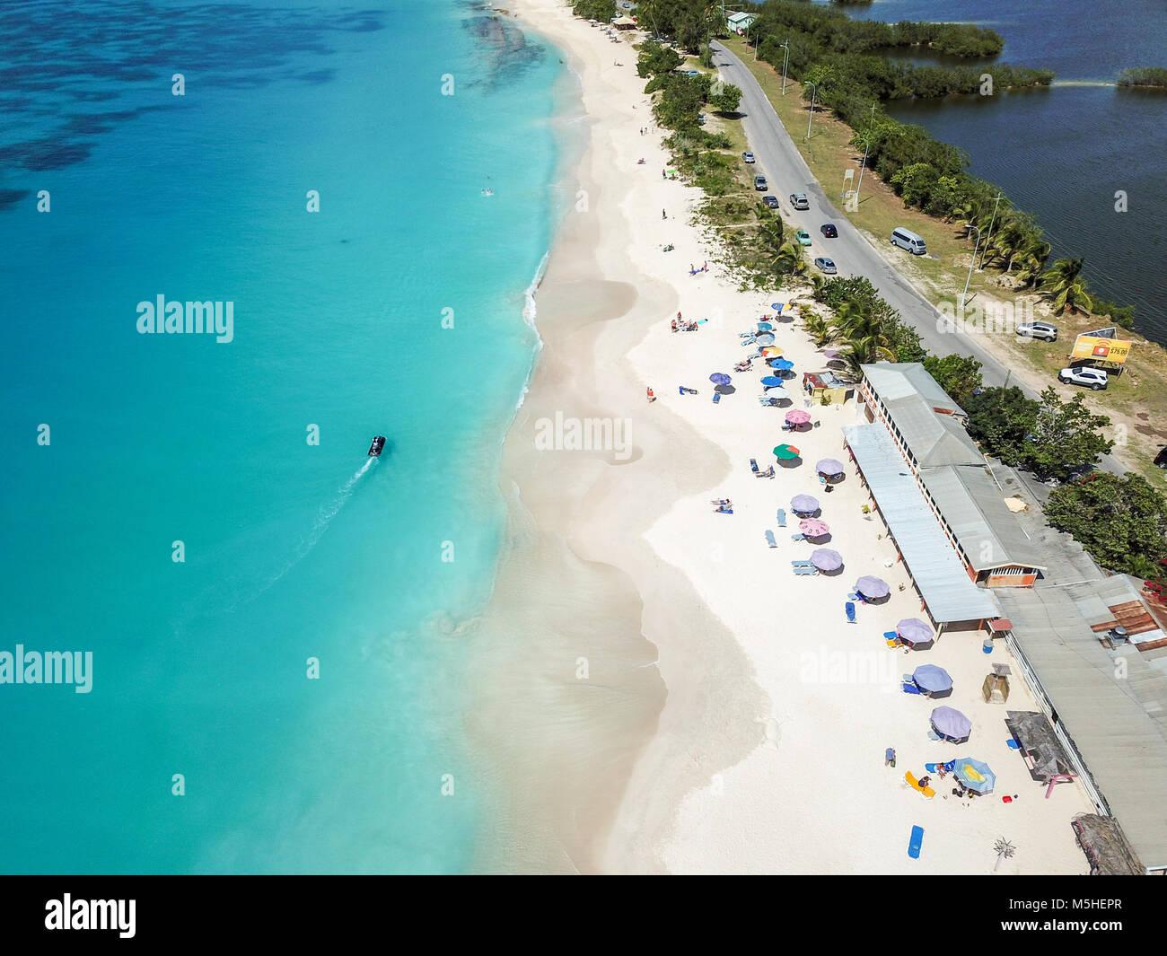 Darkwood Beach, Half Hyde Bay, Antigua Stock Photo