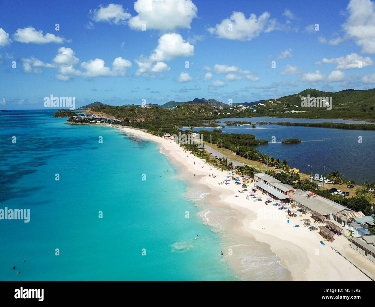 Darkwood Beach, Half Hyde Bay, Antigua - Stock Image