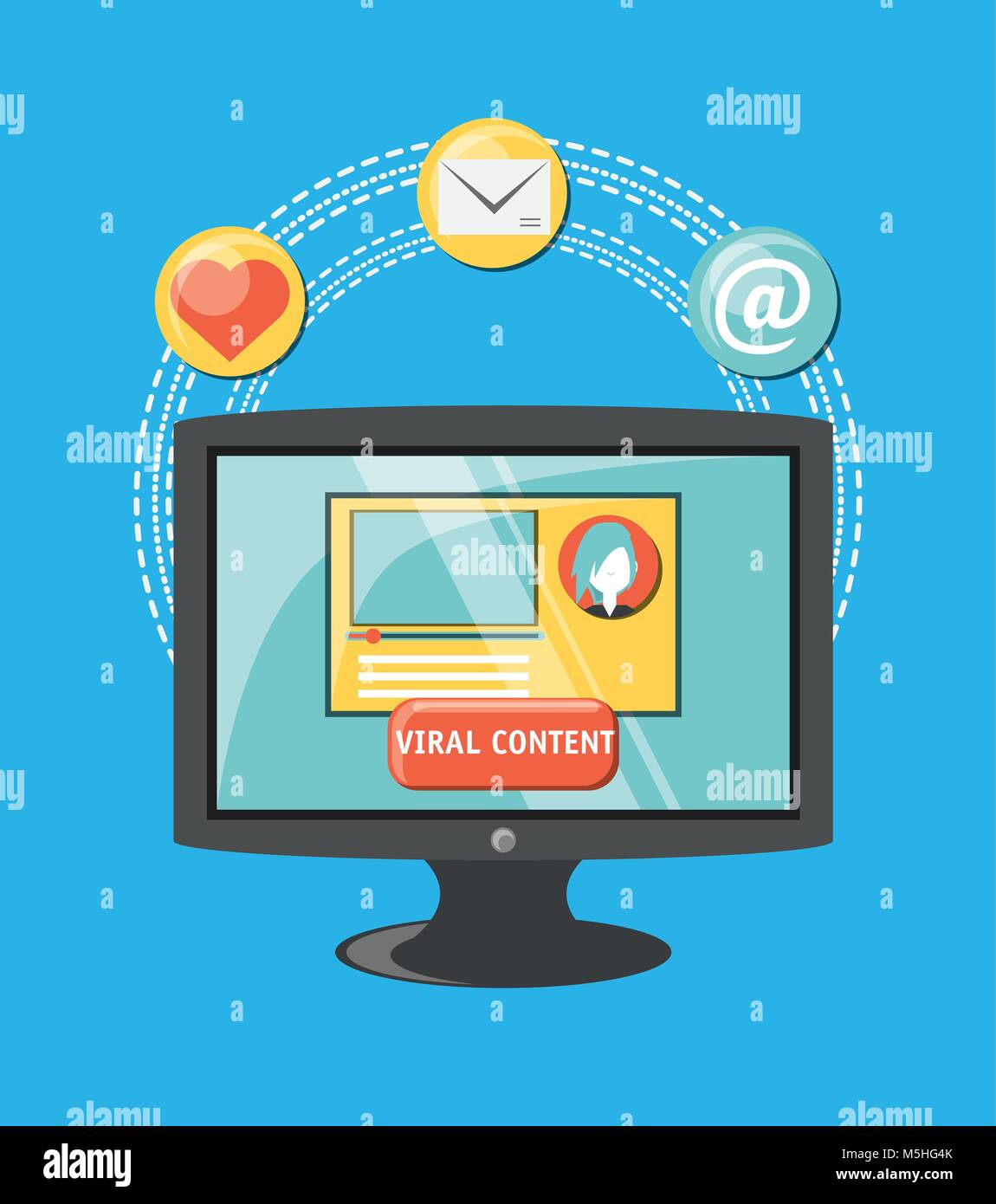 viral content design - Stock Image