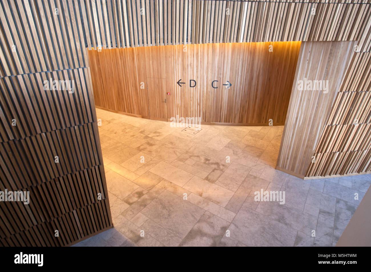 Seating Areas C And D In Interior Of Oslo Opera House With The Waving Wood  Wall, Snøhetta Architect, Oslo, Norway