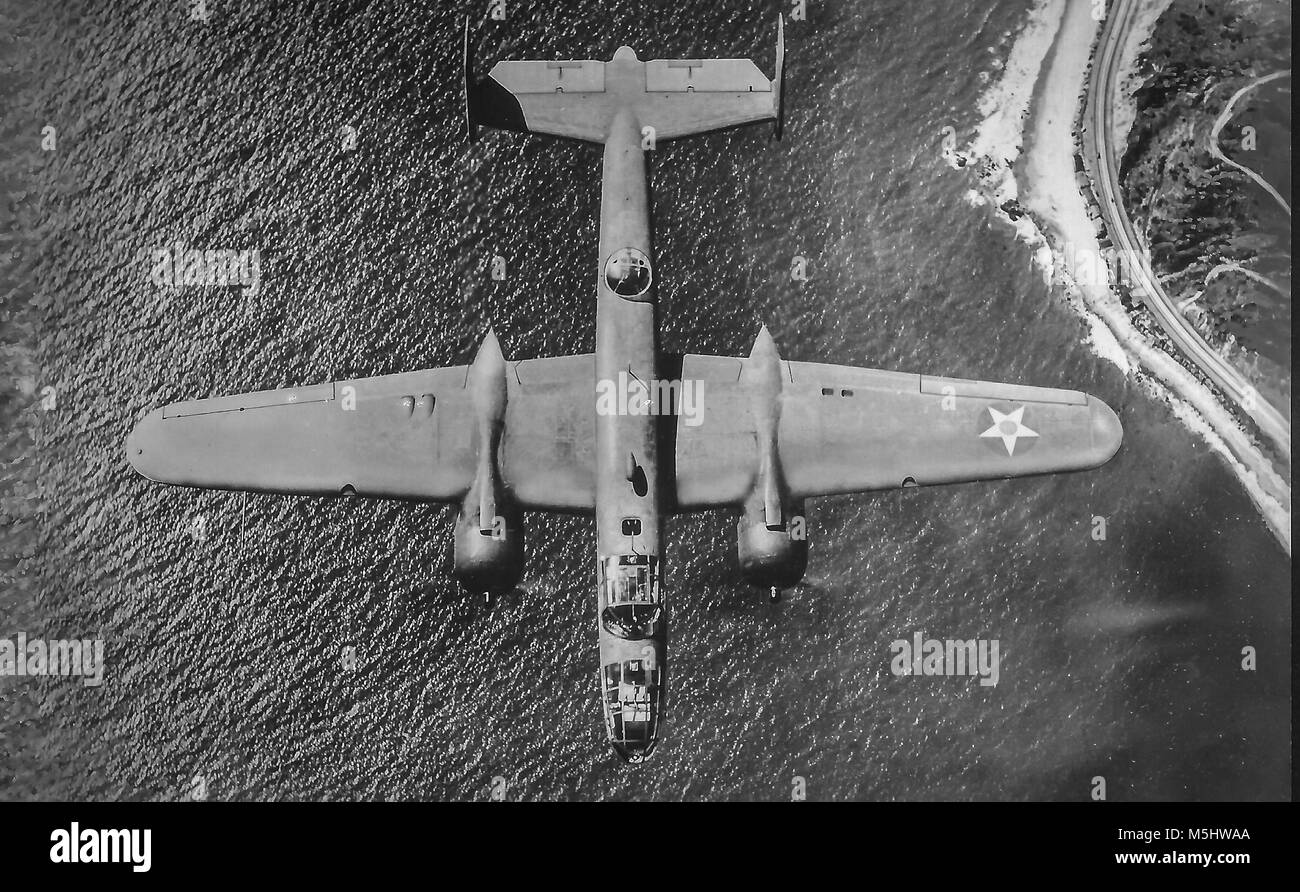 Vintage military aircraft WW2 onwards - Stock Image