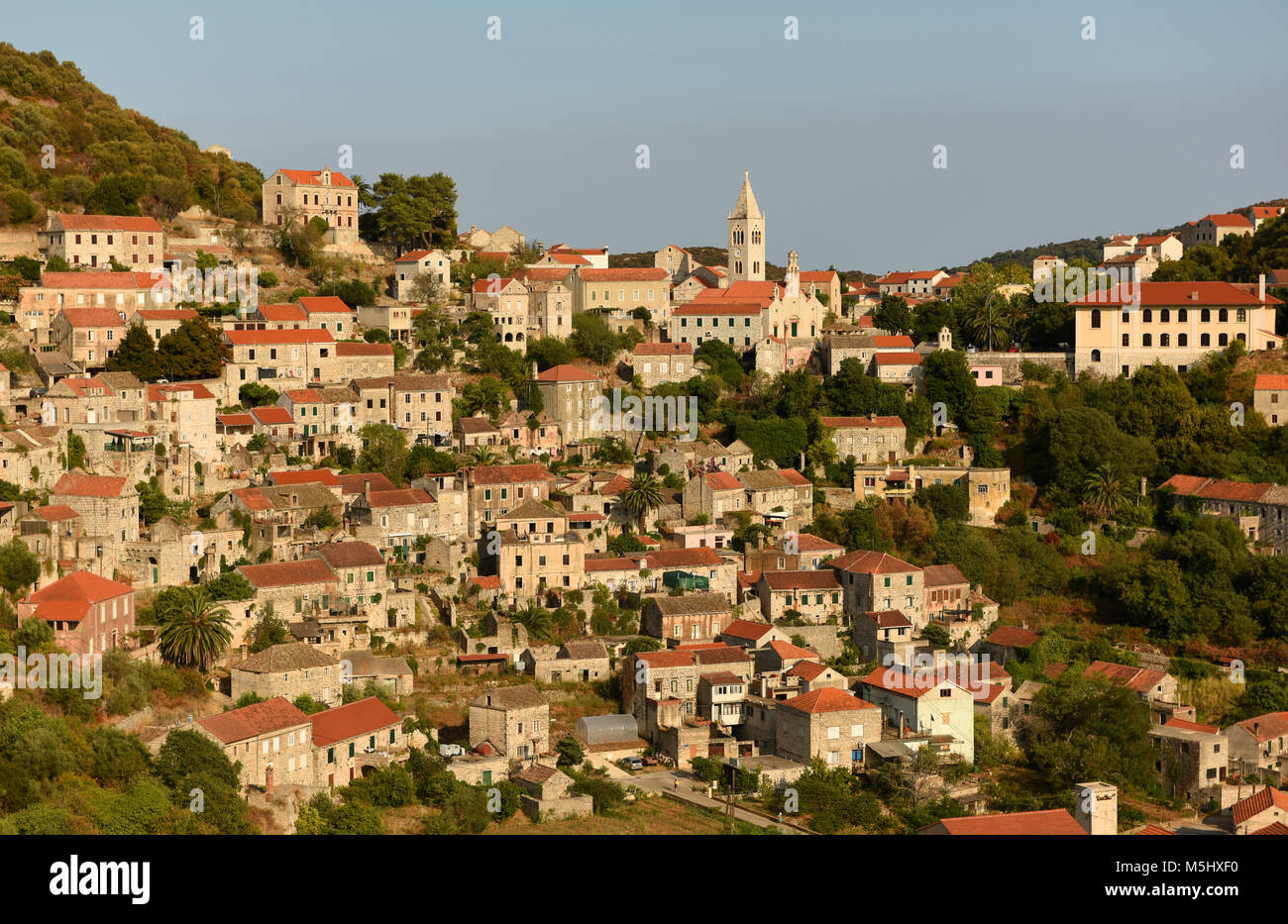 Old town Lastovo on island of Lastovo, Croatia - Stock Image