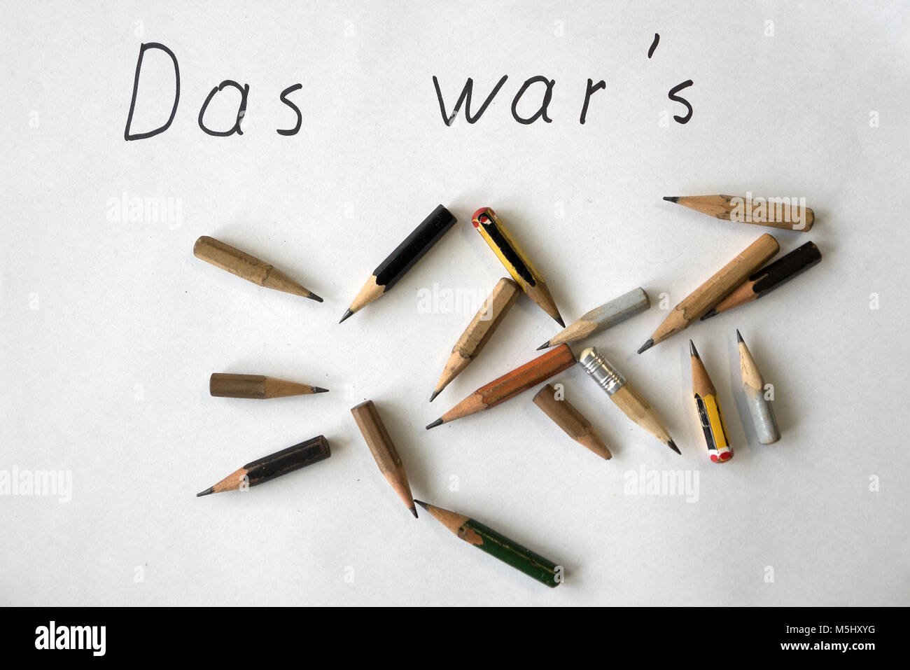 Farewell note stock photos farewell note stock images alamy ironic german retirement farewell note das wars thats it with worn pencils thecheapjerseys Images