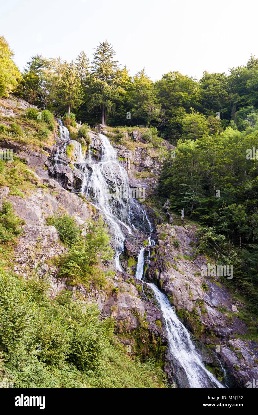 Deutschland, Baden-Württemberg, Schwarzwald, Hochschwarzwald, Todtnau, Wasserfall, Todtnauer Wasserfall Stock Photo