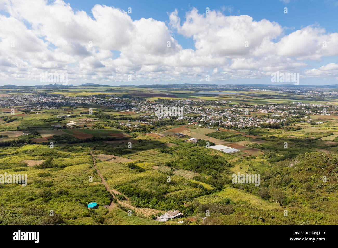 Mauritius, View of St. Pierre - Stock Image