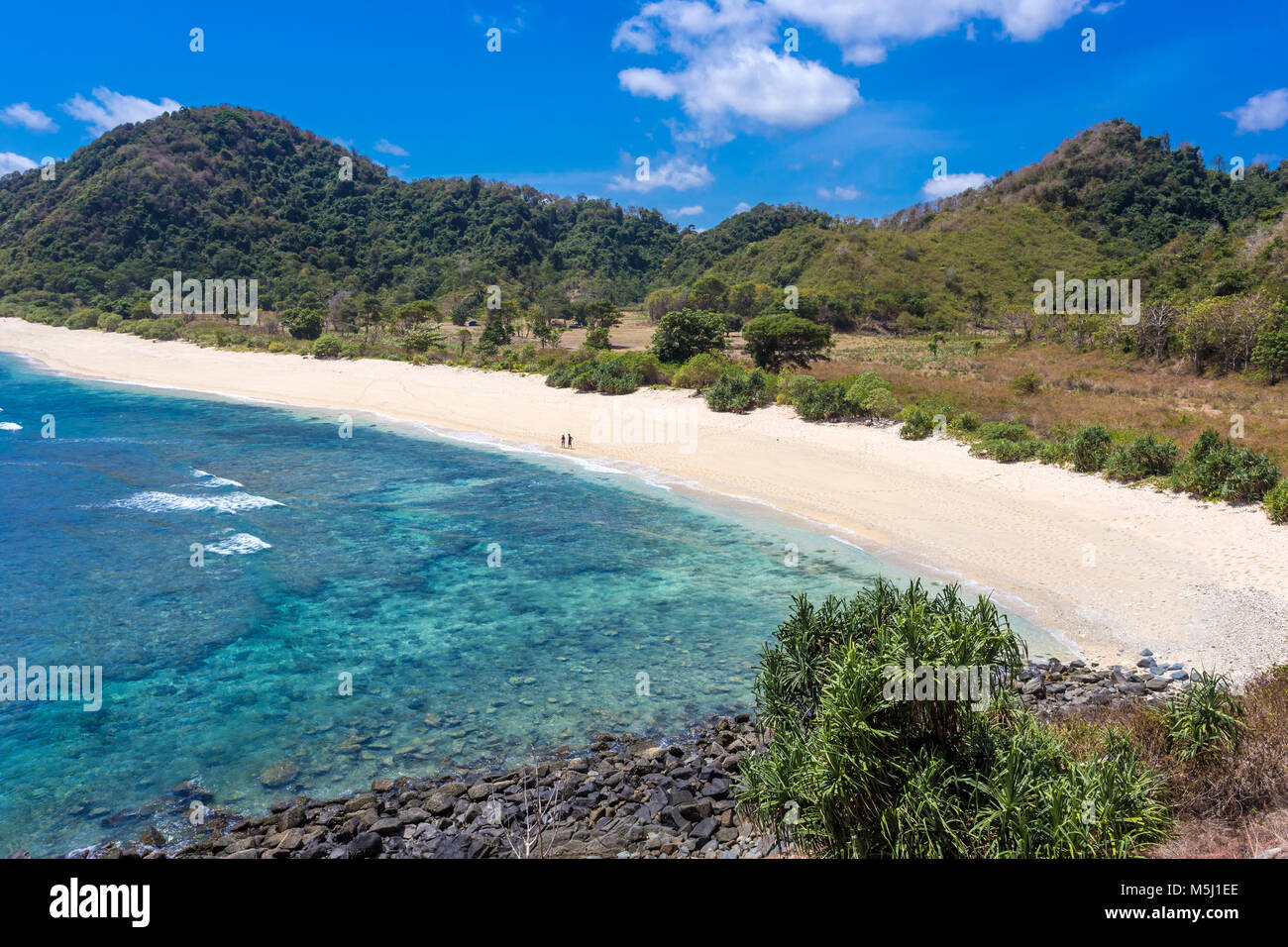Indonesia, Lombok, ocean coastline - Stock Image