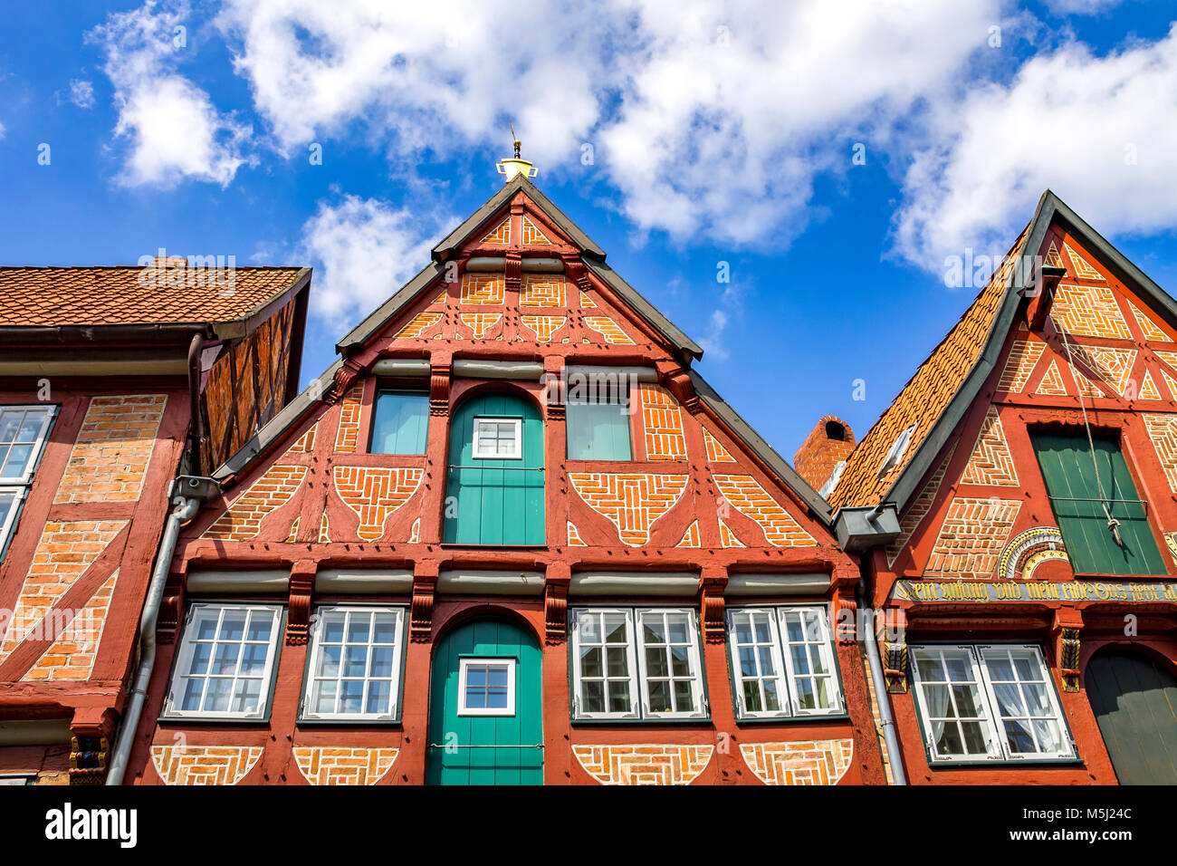 Germany,  Lower Saxony, Lueneburg, Old town, Gable house - Stock Image