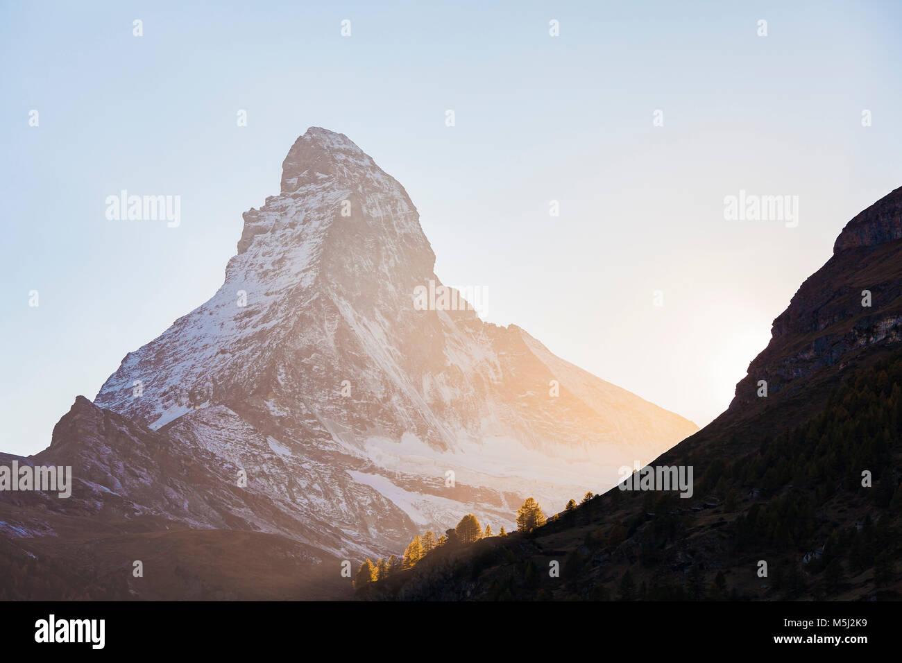 Schweiz, Kanton Wallis, Zermatt, Matterhorn - Stock Image