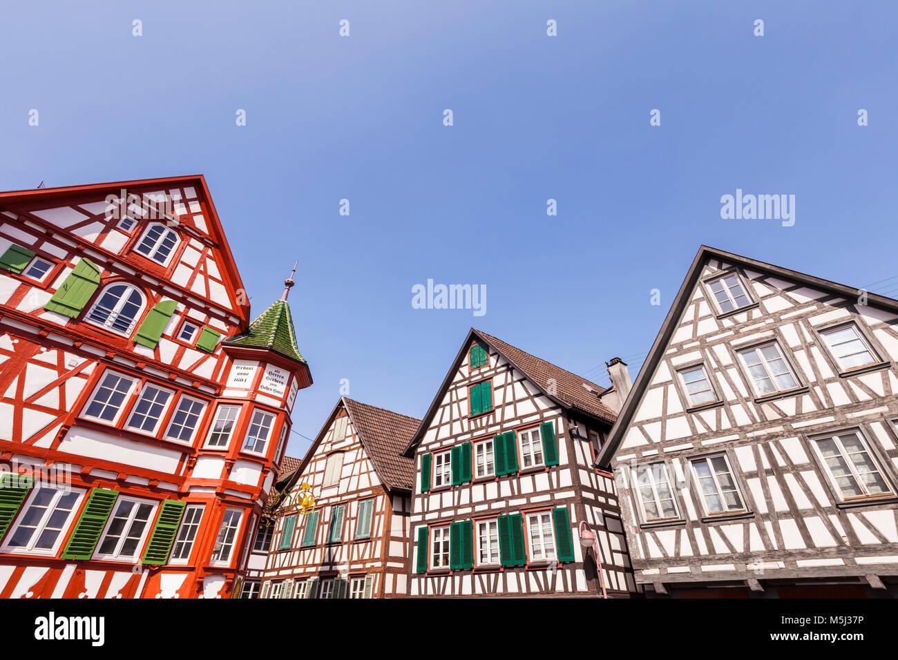 Deutschland, Baden-Württemberg, Schwarzwald, Schiltach, Altstadt, Fachwerkhäuser - Stock Image