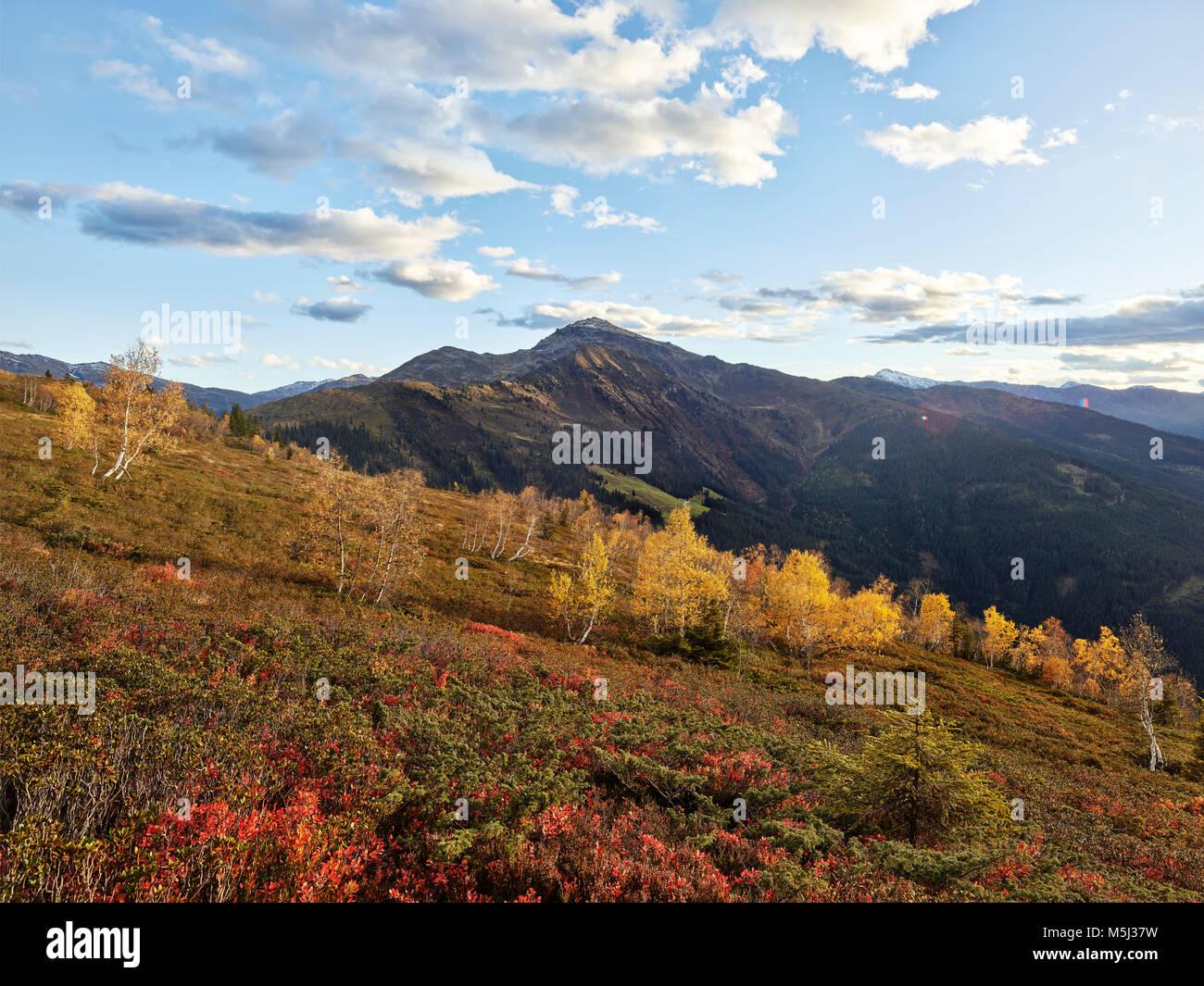 austria, Tyrol, Tux Alps, Schwaz, Gilfert, landscape in autumn - Stock Image