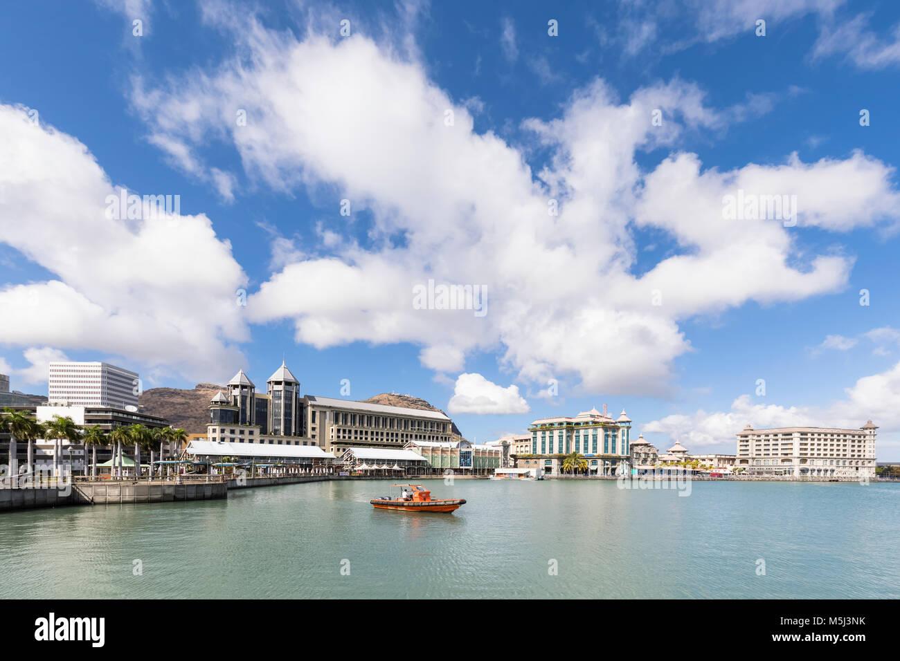 Mauritius, Port Louis, Caudan Waterfront Stock Photo