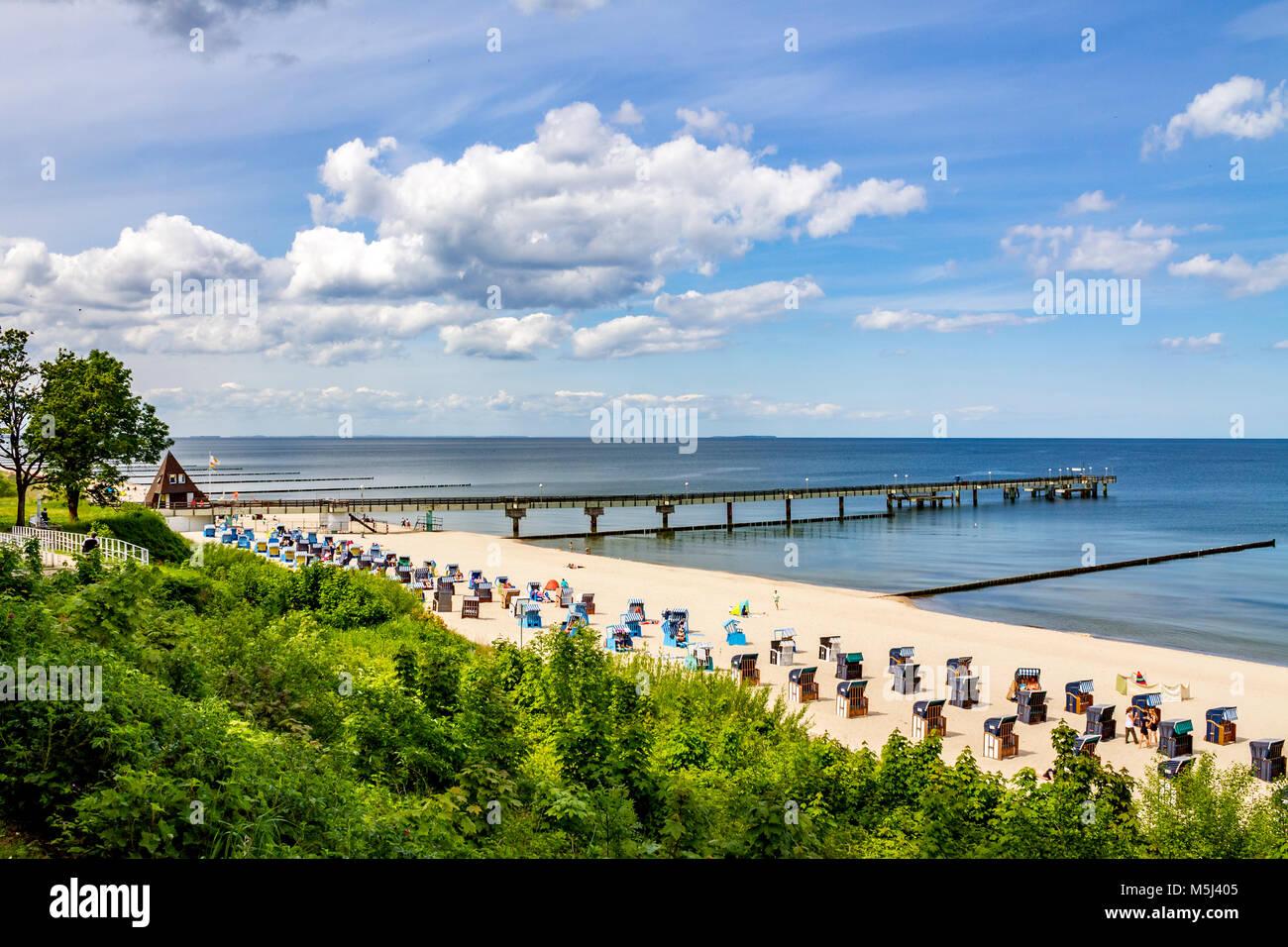 Germany, Mecklenburg-Western Pomerania, Baltic sea seaside resort Koserow - Stock Image