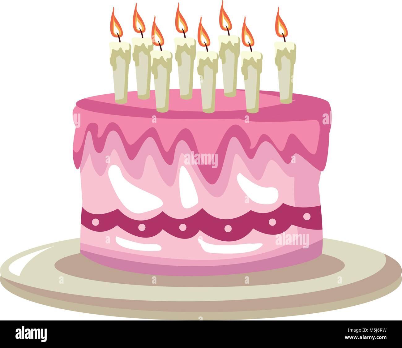 Birthday Cake Cartoon Stock Vector Art Illustration Image