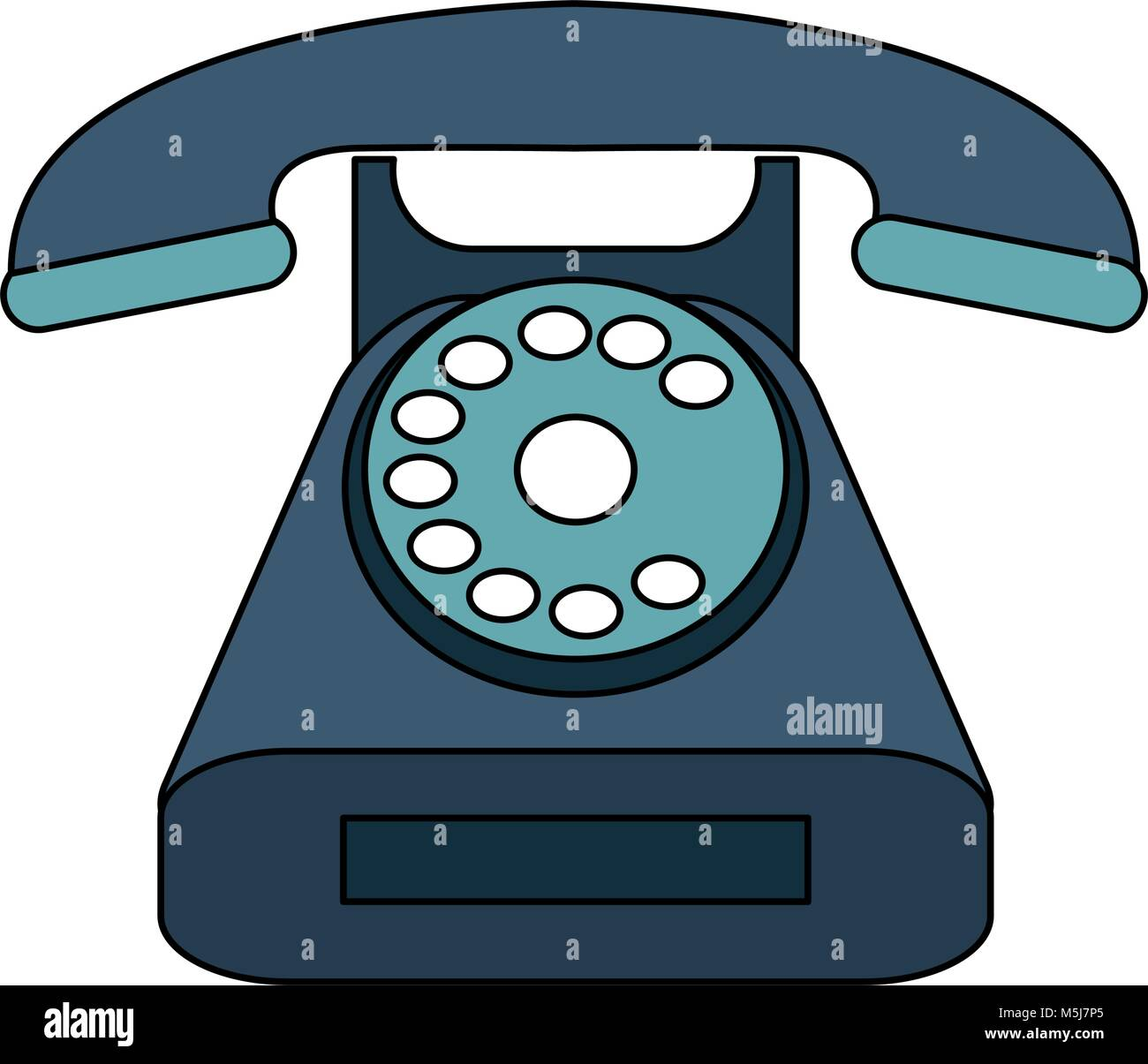 Vintage telephone symbol - Stock Image