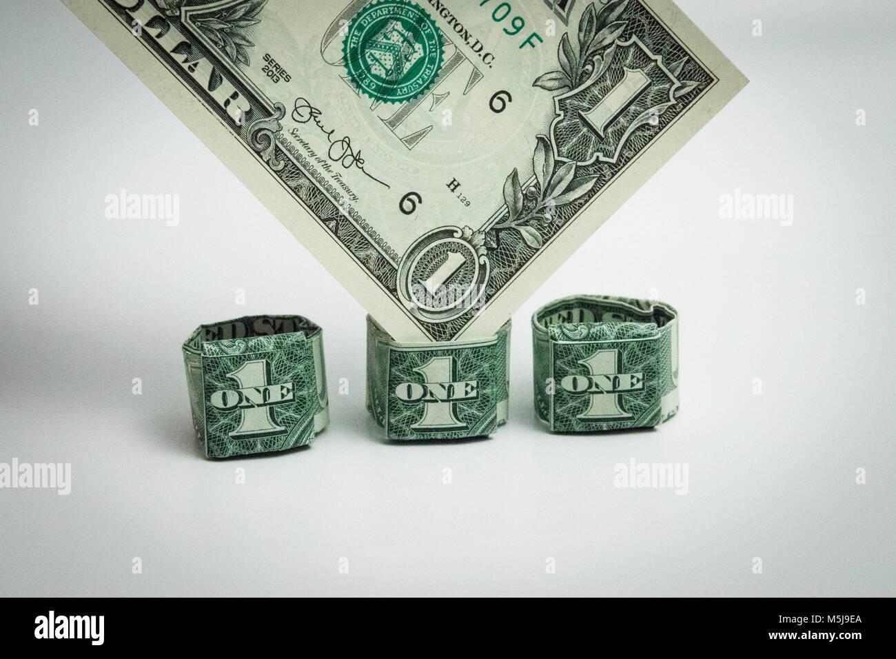 Dollar Bill Origami Stock Photos Dollar Bill Origami Stock Images