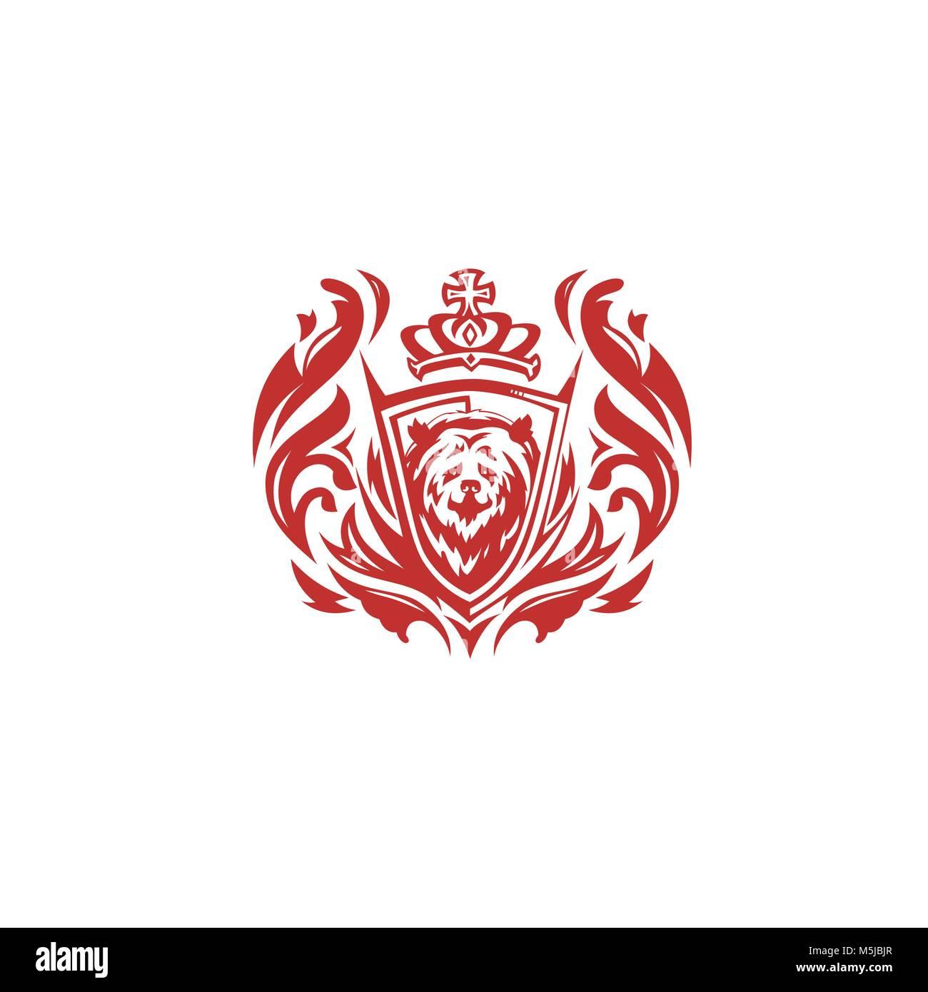 red bear on white background vector illustration design. Stock Vector