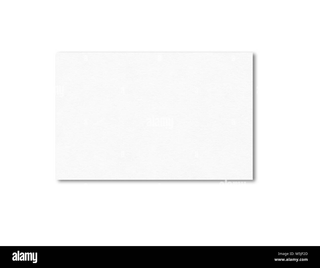 Blank Business Card Mockup Template Isolated On White