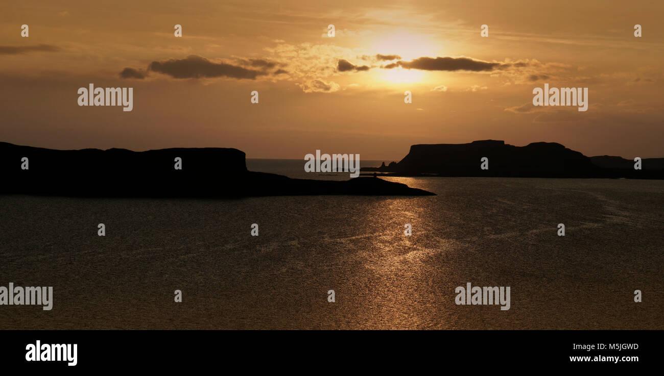 Skye sunset Stock Photo