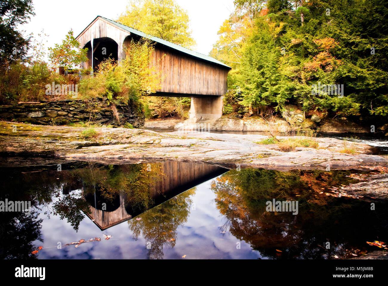 Kissing Bridge Vermont Waterville Vermo...