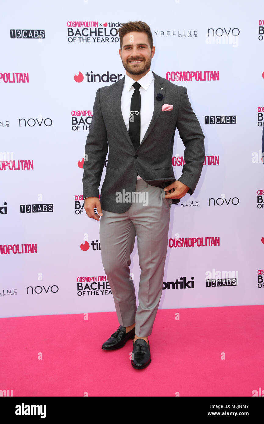 February 22nd, 2018. Sydney, Australia. Tbc attends the Cosmopolitan + Tinder annual Bachelor of the Year Award - Stock Image