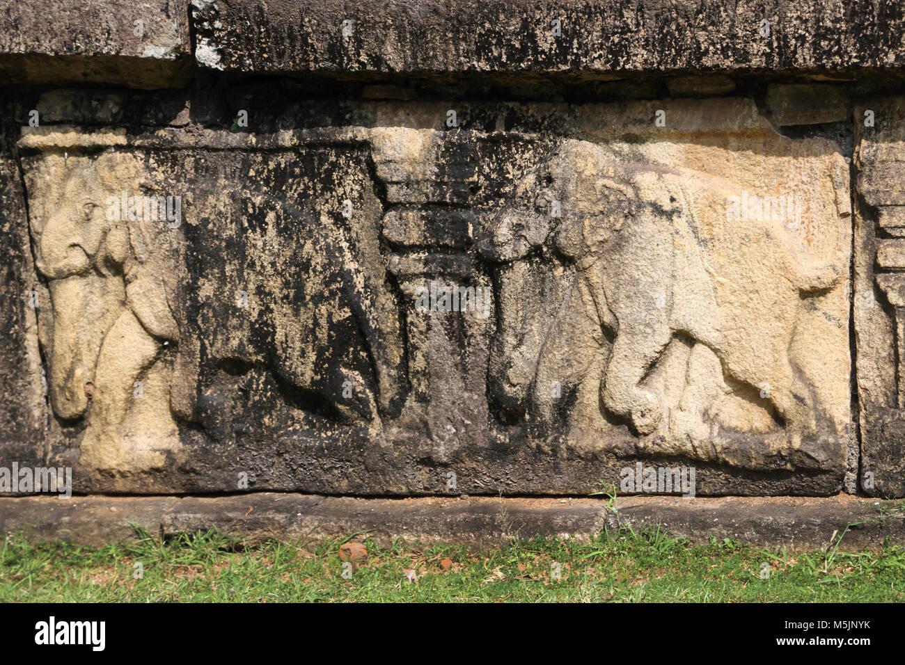 Polonnaruwa North Central Province Sri Lanka King's Council Chamber - Stock Image