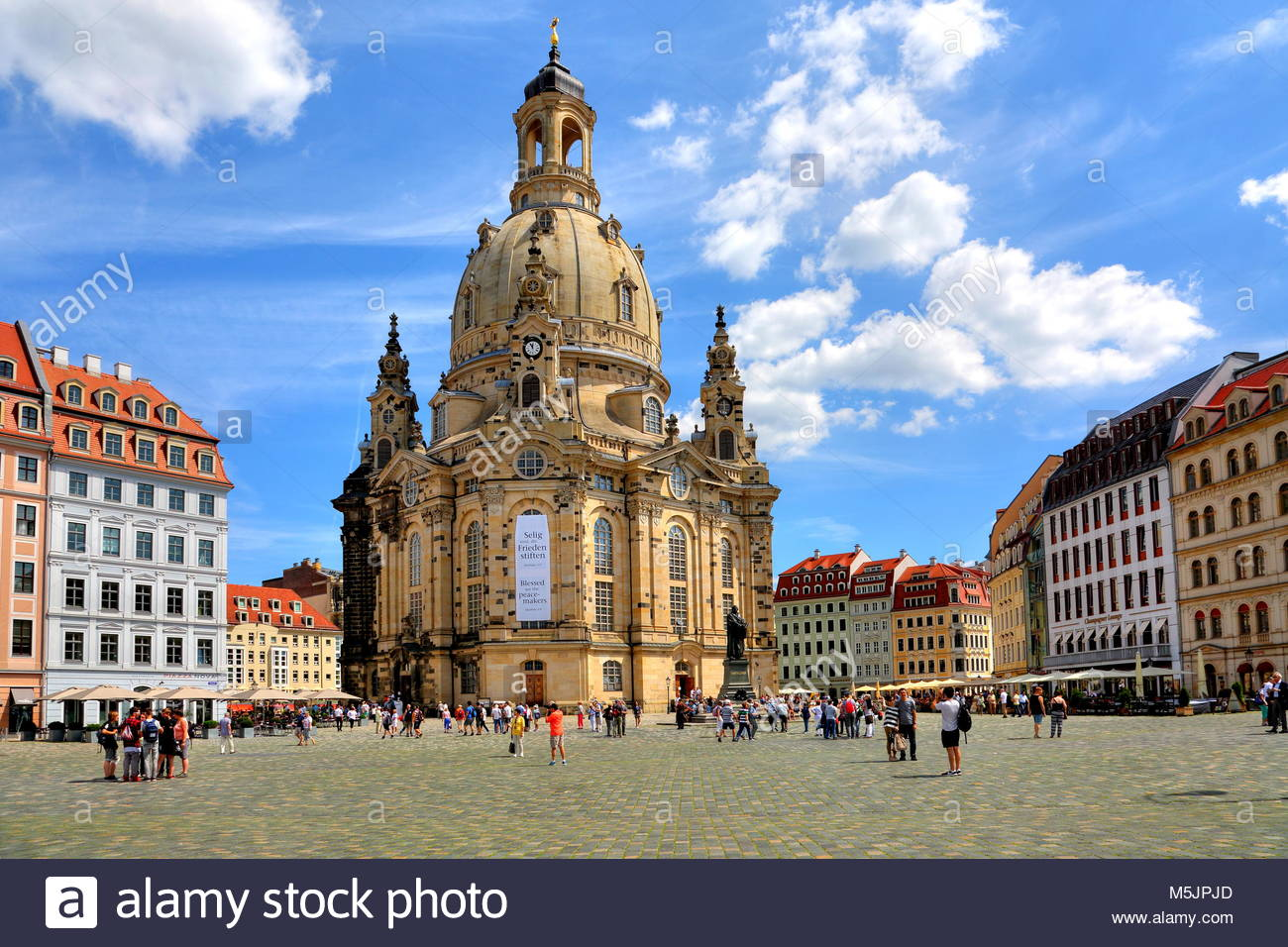 Frauenkirche on the Neumarkt,Old Town,Dresden,Saxony,Germany - Stock Image