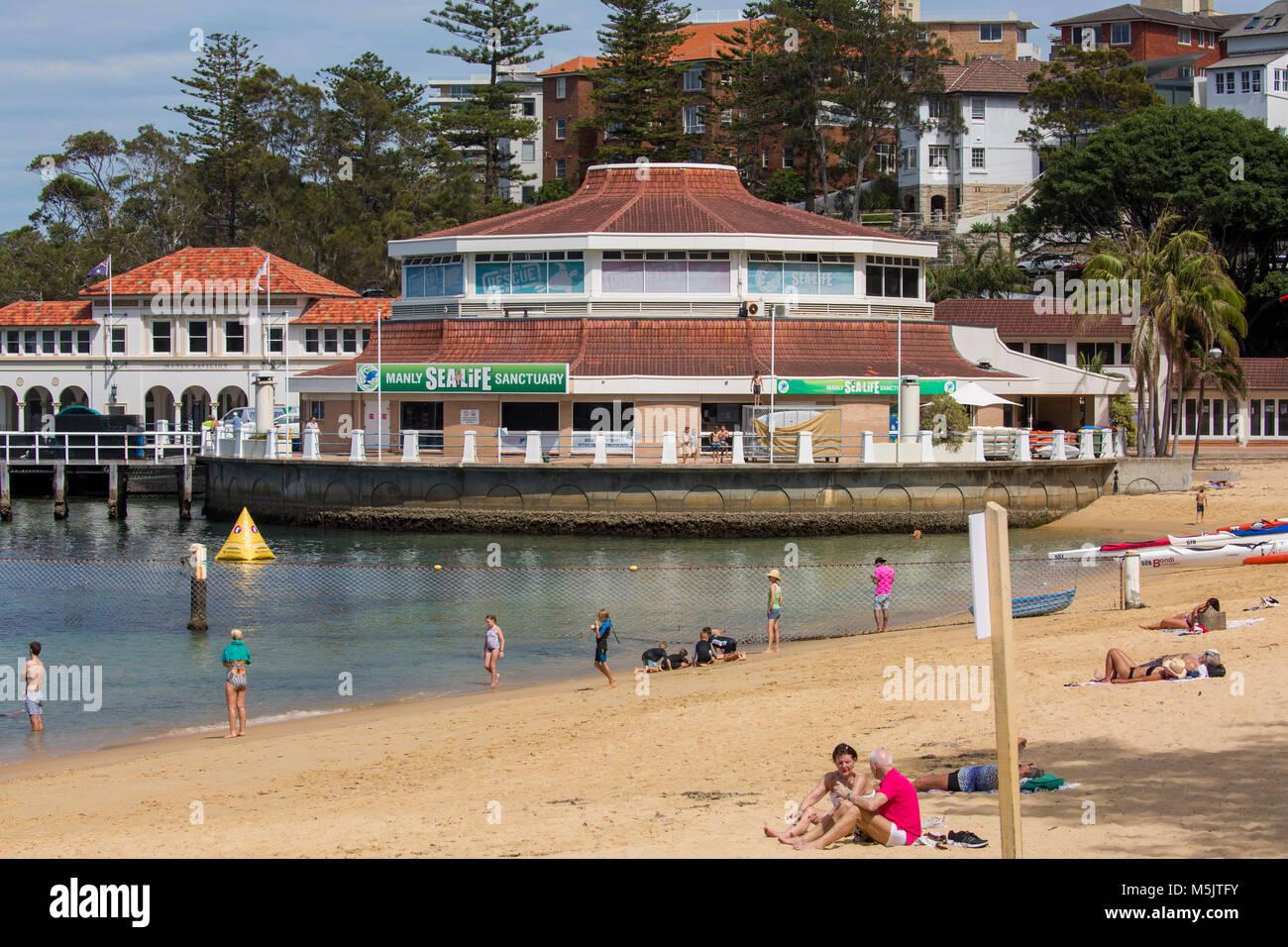 Manly beach sea life aquarium, Sydney,Australia - Stock Image