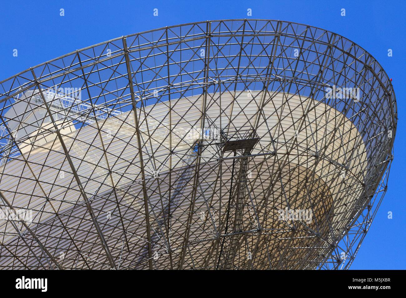 Radio telescope at Parkes, NSW, Australia. Stock Photo