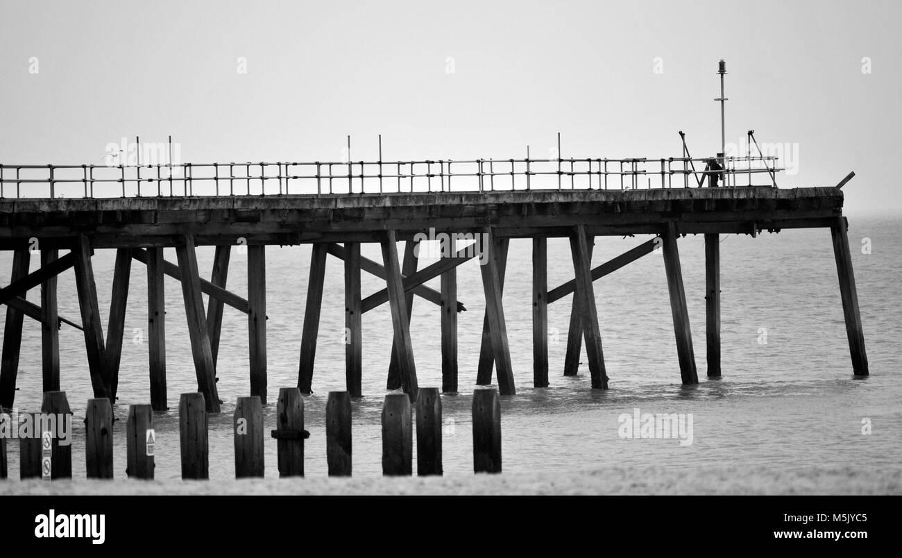 redundant pier lowestoft suffolk england - Stock Image